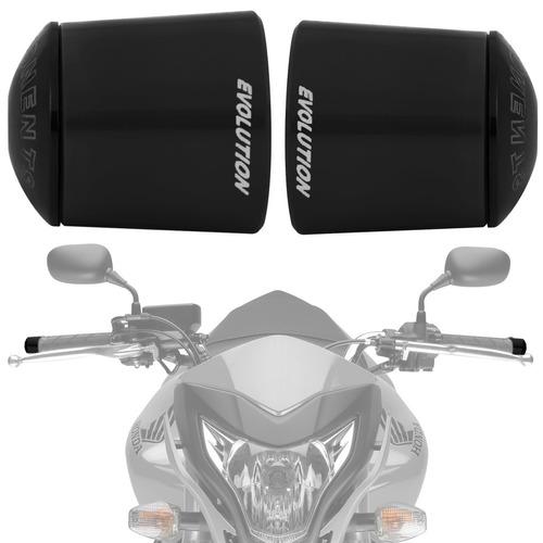 Peso Guidao Moto Universal Racing Preto Longo Evolution