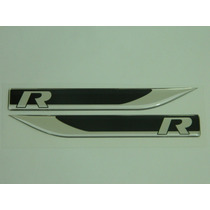 Emblema R-line Apr Golf Jetta Passat Fusca Tiguan Preto