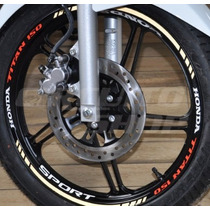 Kit Tricolor Refletivo Friso E Interno Honda Titan 150 Mod03