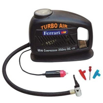 Mini Compressor De Ar Automotivo 12v - Ferrari