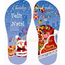 Chinelo Sandália Personalizado Presente Natal Amigo Secreto