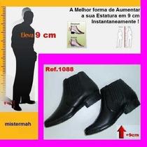 Sapato Aumento De Estatura 9cm Couro Mistermah Elastico