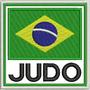 Patch Bordado Seleção De Judo Bandeira Do Brasil 9x9cm Esp62