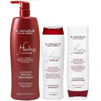 Kit Lanza Shampoo Colorcare 300ml + Cond. 250ml + Trauma 1l