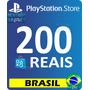 Cartão Playstation R$ 200 Reais   Ps4 Psn Brasil Brasileira