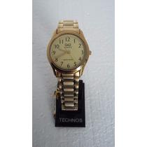 Relógio Citizen Q&q Analógico Dourado De Aço 3 Atm C/ Nfe