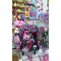 Mochila Monster High Com Rodinha E Puxador Sestini Original