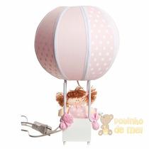 Abajur/ Luminária Balão Boneca Menina Quarto Bebê E Infantil