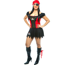 Fantasia De Pirata Sexy,piratinha, Pirata Do Caribe Adulto