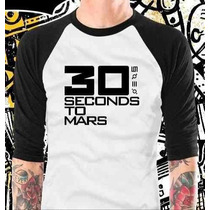 Camisa Raglan 3/4 30 Seconds To Mars Rock
