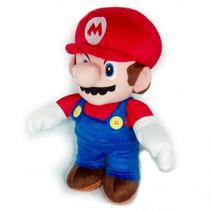 Boneco Pelúcia Mario Super Mario Bros Articulado