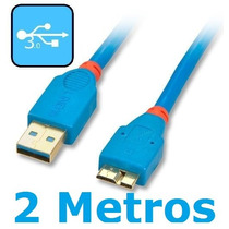 Cabo Usb 3.0 P/ S5 Note 3 Samsung N9000 G900 2m Hd Externo