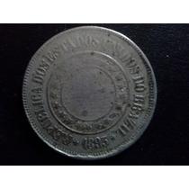 Moeda 200 Reis 1893 V-046 República Niquel