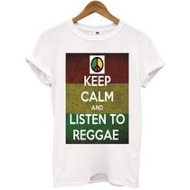 T- Shirt Keep Calm And Listen To Reggae