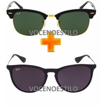 Oculos Feminino Masculino Ray Ban Pague 1 Leve 2 Rayban
