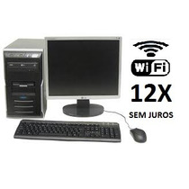 Computador Core 2 Duo,2gb Ddr2,hd 160 Monitor 17 Lcd Wifi