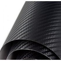 Adesivo Envelopamento Fibra De Carbono Preta Tuning 1x2m