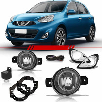 Kit Farol De Milha Auxiliar Nissan New March 2014 2015