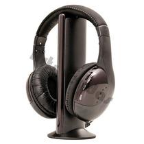 Fone De Ouvido Sem Fio Wireless 5x1 Rádio Fm Tv Pc Skype Dvd