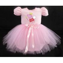 Vestido Infantil Festa Peppa Pig Bailariana Fantasia