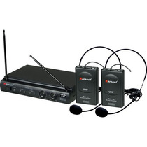 Microfone Headset Sem Fio Duplo Kru302 Preto Karsect #5487