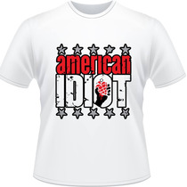 Camiseta Green Day American Idiot Billie Joe Rock Camisa 5