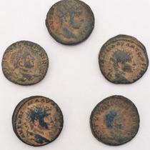 Lote De 5 Moedas Antigas Império Romano Cunhadas Na Siria 1