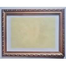 Moldura Para Certificado A4 - 21x30cm - Dourada - C/ Acetato