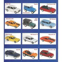Coleção 12 Miniatura Carros Classicos Nacionais 1:43 Metal