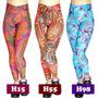 Calça Legging Estampada Feminino Colmeia Suplex Fitness