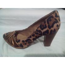 Sapato Scarpin Meia Pata Nobuck Via Uno Feminino Oncinha