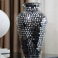 Vaso Mosaico De Vidro Espelhado - Bu030