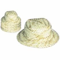 Mini Chapéu De Palha Boneca Lembrancinha, Junina Kit Com 10