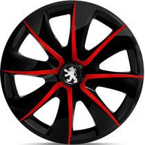 Jogo Calota Aro 14 Esportiva Verm Peugeot 206 207 307 208