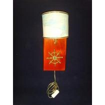Luminária Arandela-náutica-32x17 Madeira E Cúpula Nautica