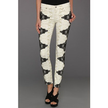 Autentico Jeans 7 For All Mankind The Skinny In Layered Lace