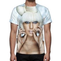 Camisa, Camiseta Cantora Pop Lady Gaga 02 - Estampa Total