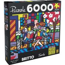 Quebra-cabeça Puzzle Grow 6000 Peças Romero Britto Family