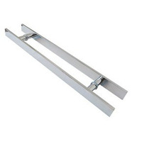 Puxador Retangular Aluminio 40cm X 30cm - Porta De Vidro