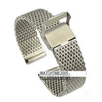 Pulseira Mesh Interlock 24mm Para Rolex Cartier Breitling