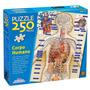 Novo Quebra-cabeça Puzzle Grow 250 Peças Corpo Humano