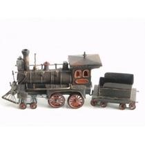 Locomotiva Com Vagão Trem De Ferro Colecionadores Coleções