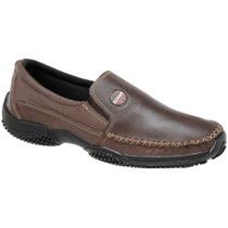 Sapato Mocassim Masculino Couro 100% Natural Alto Conforto
