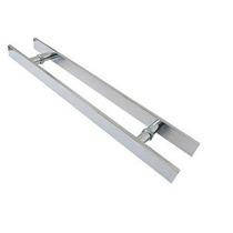 Puxador Retangular Aluminio 60cm X 40cm - Porta De Vidro