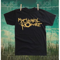 Camiseta My Chemical Romance Algodão Impressão Silk Screen