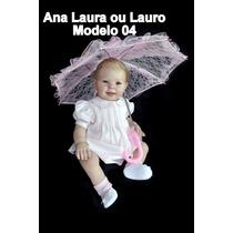 Boneca Bebê Reborn Ana Laura Ou Lauro Parece Um Bebe Real