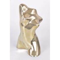 Bela Escultura Em Bronze Tema Nú, Parte Corpo Mulher Estatua