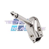 Kit 10un Plug P10 90 Graus Conector L Mono Metalico Cachimbo