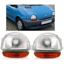 Farol Renault Twingo 94 95 96 97 98pisca Ambar Novo Par