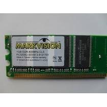 Memória Markvision 1gb Ddr-400 Mhz-cl3 Pc3200u C/ Garantia